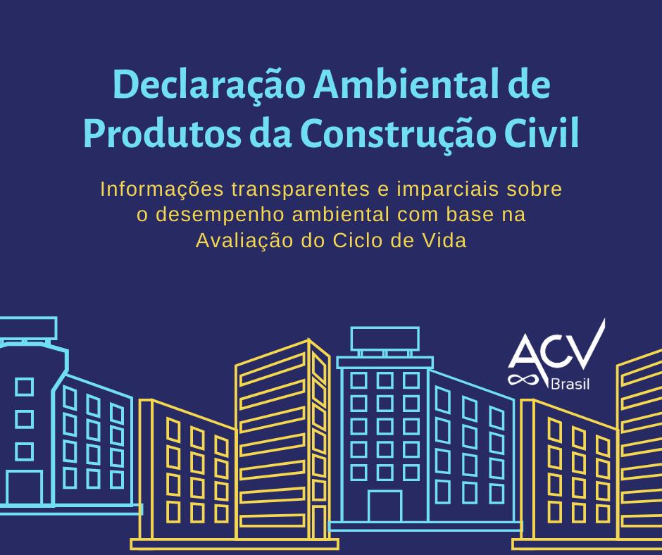 Eco Portal: banco de dados de Declarações Ambientais de Produtos da Construção Civil